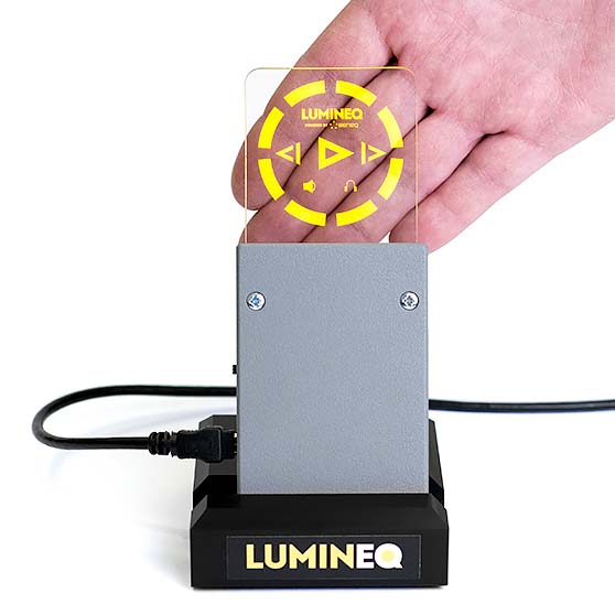 Lumineq electroluminiscent transparent display